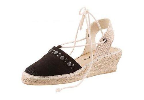 tamaris stylische keilabsatz sandalen schn r espadrilles. Black Bedroom Furniture Sets. Home Design Ideas