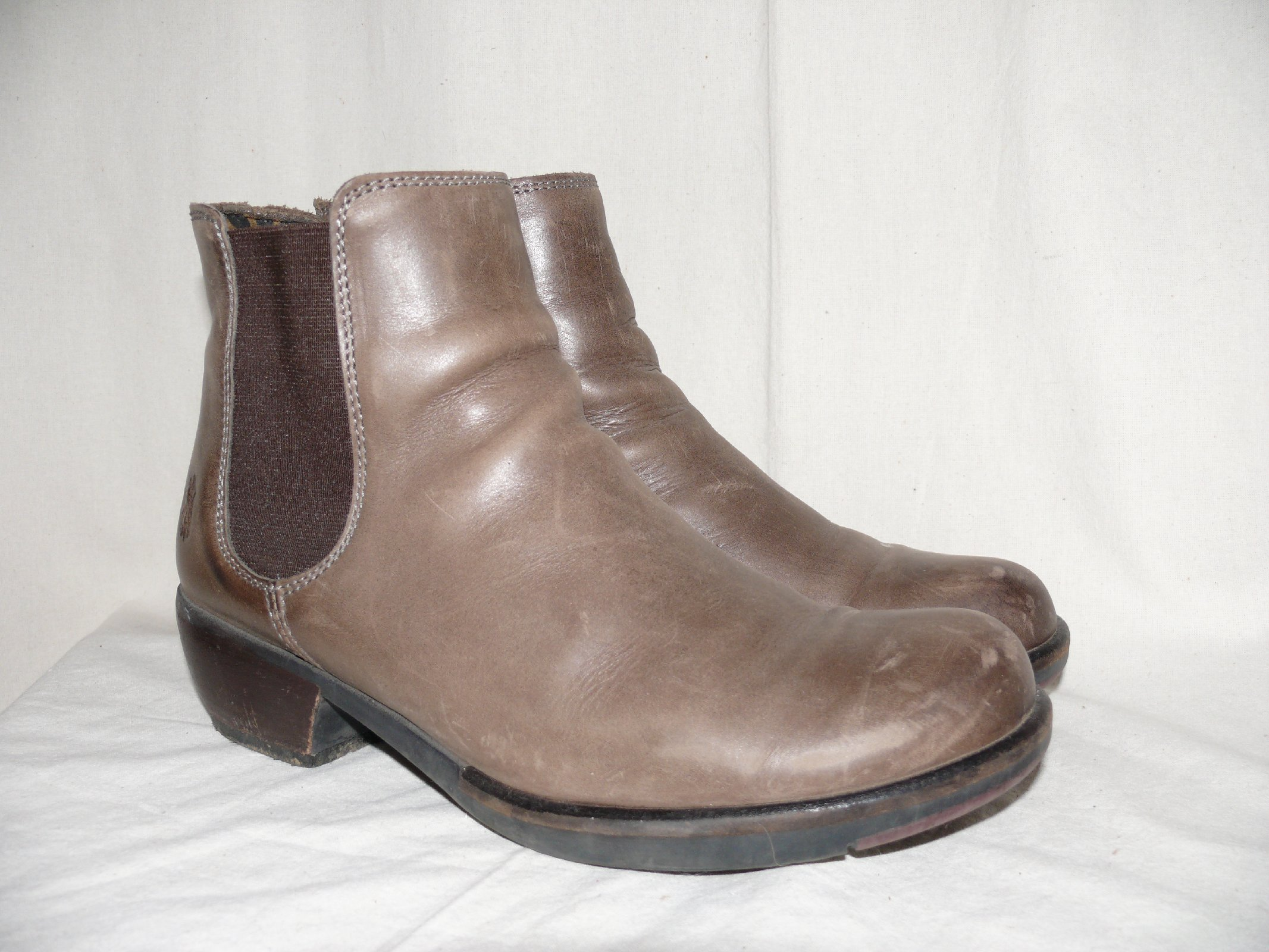 fly london leather ankle boots ankle chelsea boots grau 41 vintage ebay. Black Bedroom Furniture Sets. Home Design Ideas