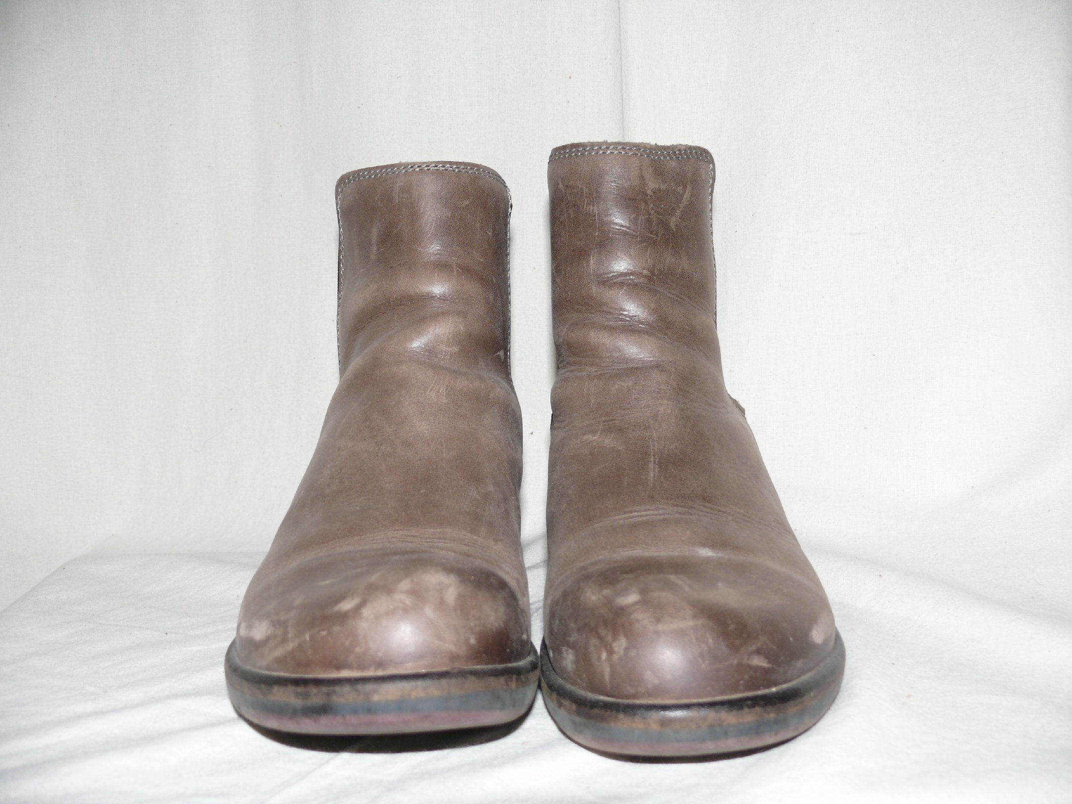 london leather ankle boots ankle chelsea boots grau 41 vintage ebay. Black Bedroom Furniture Sets. Home Design Ideas
