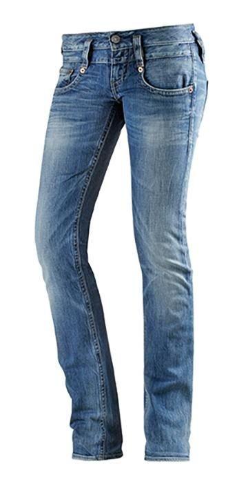 herrlicher trendy gerade jeans pitch 5003 blau used w28. Black Bedroom Furniture Sets. Home Design Ideas