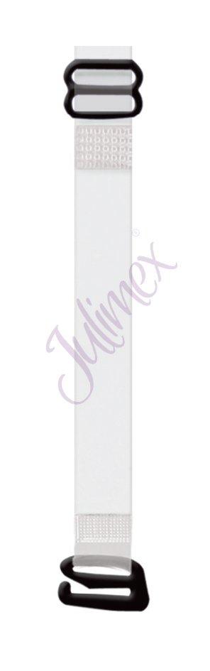 JULIMEX-Neckholder-BH-Traeger-Ersatztraeger-10-mm-transparent-mit-Metallhaken-NEU