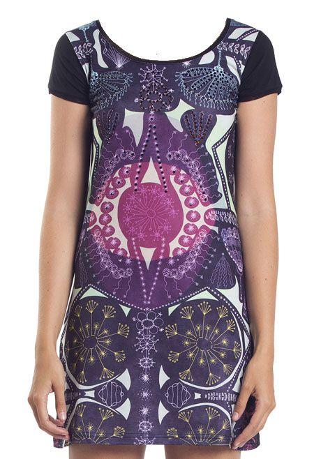 CUSTO-BARCELONA-langes-T-Shirt-shortsleeve-Longshirt-dress-NEW-POPUP-Strass-NEU