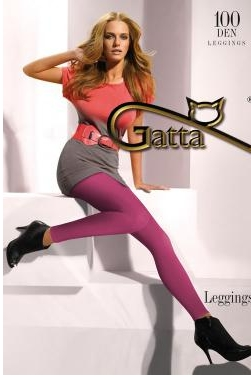 GATTA-feine-Leggings-100-DEN-schwarz-grau-lila-pink-gruen-gelb-blau-NEU